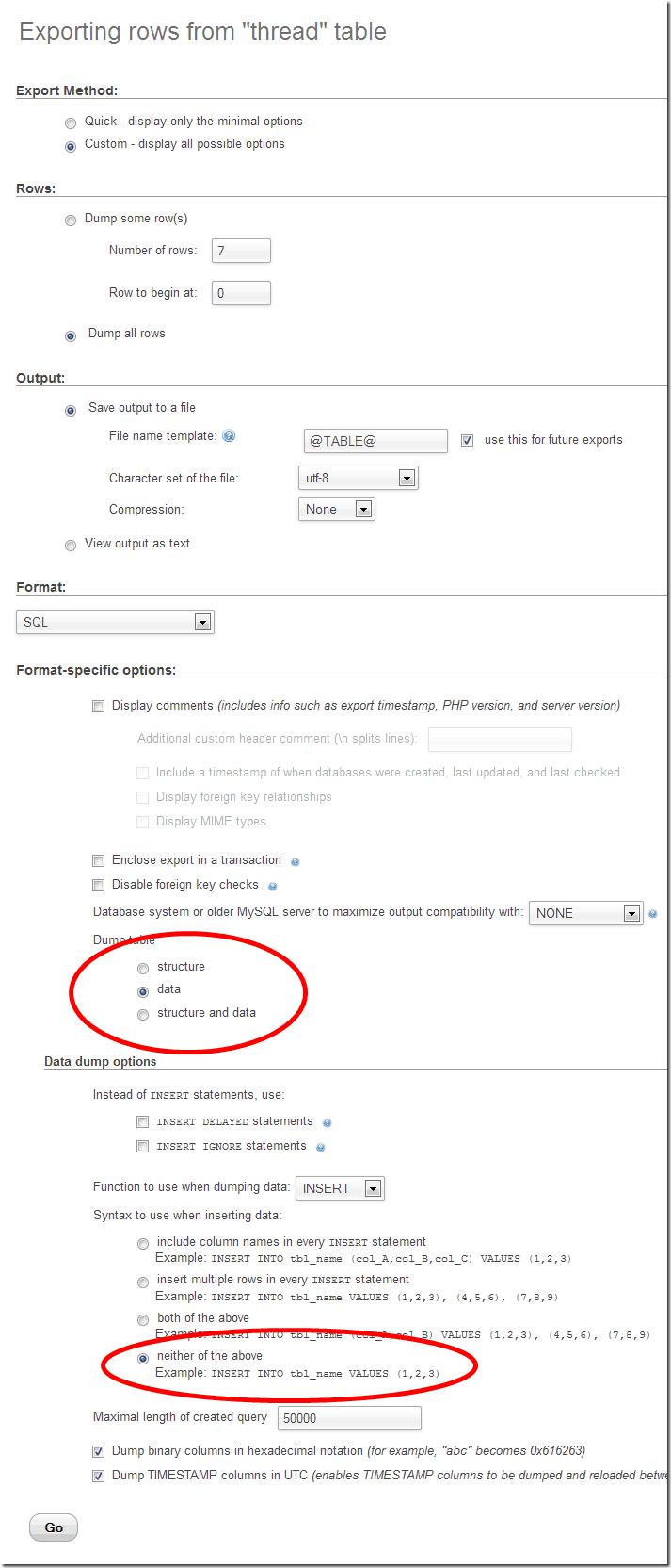phpmyadmin-export-settings